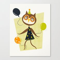 Owlivia and her belligerent balloons  Canvas Print