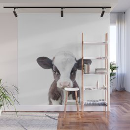 Baby Cow Portrait Wall Mural