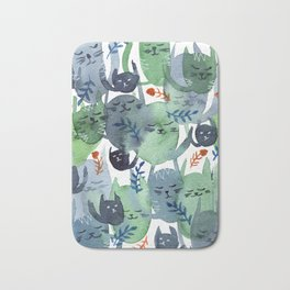 A Quiet Cacophony of Cats Bath Mat