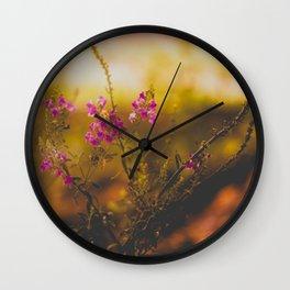 Orange Light Wall Clock