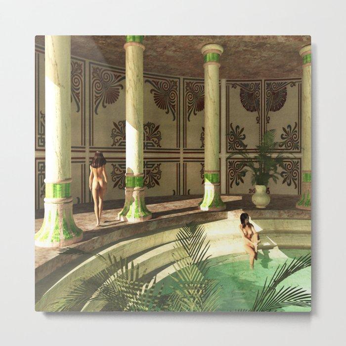 Greek Bath Beauties Metal Print By Brittaglodde