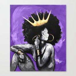 Naturally Queen VI PURPLE Canvas Print