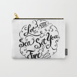 Let the Sea Set You Free black by Jan Marvin Carry-All Pouch
