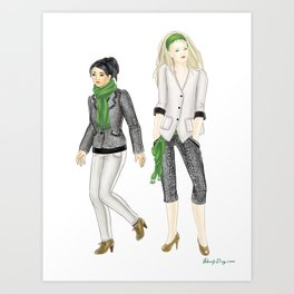 Fashion Journal: Day 8 Art Print