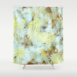 Blue yellow brown  Shower Curtain