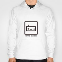 gaming Hoodies featuring retro gaming by parisian samurai studio