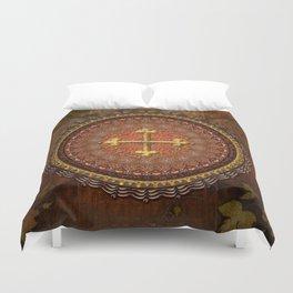 Mandala Armenian Cross Duvet Cover