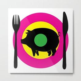 oink oink Metal Print