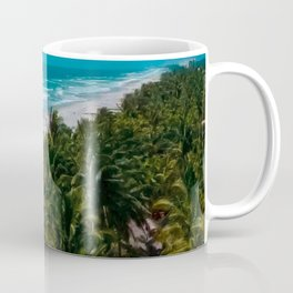 Waves and Palms Coffee Mug
