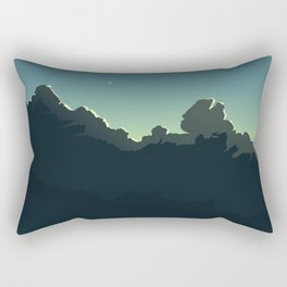 Cloudscape Blue and Green Rectangular Pillow
