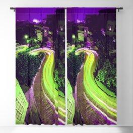 San Francisco California Lombard Street Blackout Curtain