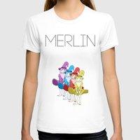 merlin T-shirts featuring Merlin by MajorTom
