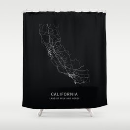 California State Road Map Shower Curtain