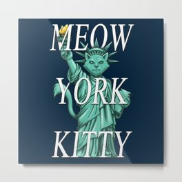Meow York Kitty Metal Print