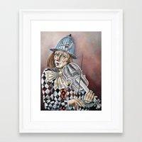 clown Framed Art Prints featuring Clown by SilviaGancheva