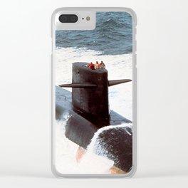 USS JAMES MONROE (SSBN-622) Clear iPhone Case