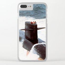 USS JAMES MONROE (SSBN-622) Clear iPhone Case