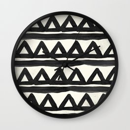 Chevron Tribal Wall Clock