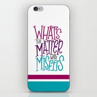misfits iPhone & iPod Skins featuring Misfits by Chelsea Herrick