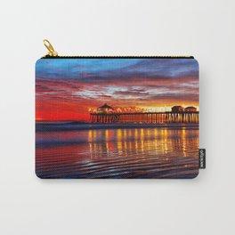Huntington Beach Sunset   12/2/13 Carry-All Pouch