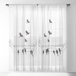 Cat's cradle Sheer Curtain