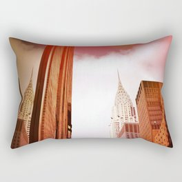 CHRYSLER BUILDING NYC' Rectangular Pillow
