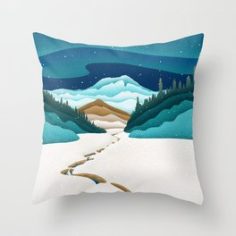 Mt. Hood from the base of Heather Canyon Throw Pillow