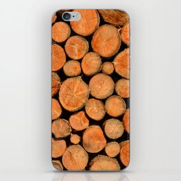 stack of wood iPhone Skin