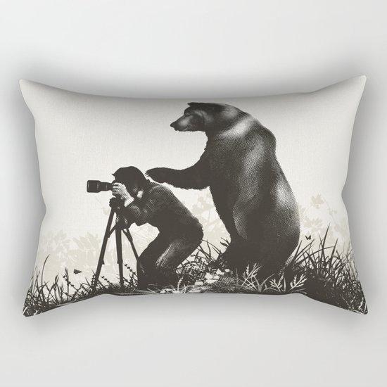 The Bear Encounter II Rectangular Pillow