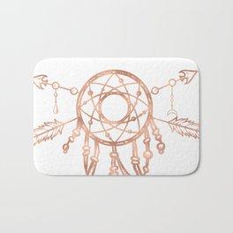 Mandala Rose Gold Pink Dreamcatcher Bath Mat