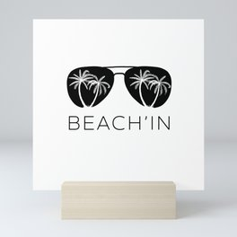 Funny Summer Sun Beach Holiday Vacation Drink Gift Mini Art Print