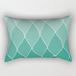 Mint ombre abstract artwork Rectangular Pillow