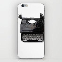 Typewriter (Black and White) iPhone Skin