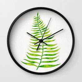 Lime Palm Leaf Wall Clock