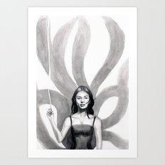 Tamamo no Mae Art Print
