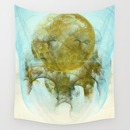 Sleepy Moon Nebula Wall Tapestry