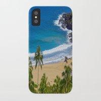 hawaiian iPhone & iPod Cases featuring Hawaiian beach by Ricarda Balistreri