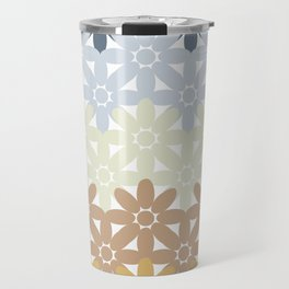 Seamless Colorful Abstract Flower Pattern from Ellipse Intersections Travel Mug