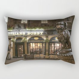 Bobby Greyfriars dog statue at night Edinburgh Scotland pub Rectangular Pillow