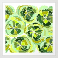 Floral Green Art Print