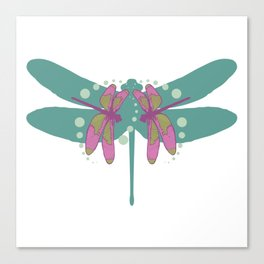 pattern with dragonflies 4 Canvas Print