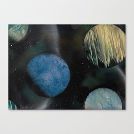 Loads of Planets - Spacescape - Spray Paint Art Canvas Print