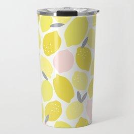 Pink Lemonade Print Travel Mug