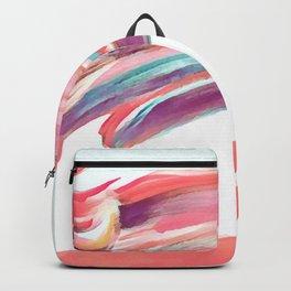 Waved Ballet Dancer Pink Art Backpack