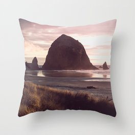 Cannon Beach Sunset Throw Pillow
