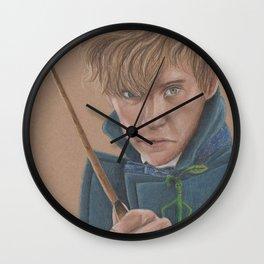 Newt Scamander Portrait played by Eddie Redmayne Wall Clock