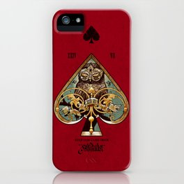 Ace of Spades - Requiem Playing Cards iPhone Case