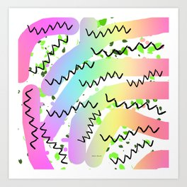 Zig Zag PATTERN DESIGN Print More Art Print