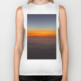 Sunrise over clouds Biker Tank