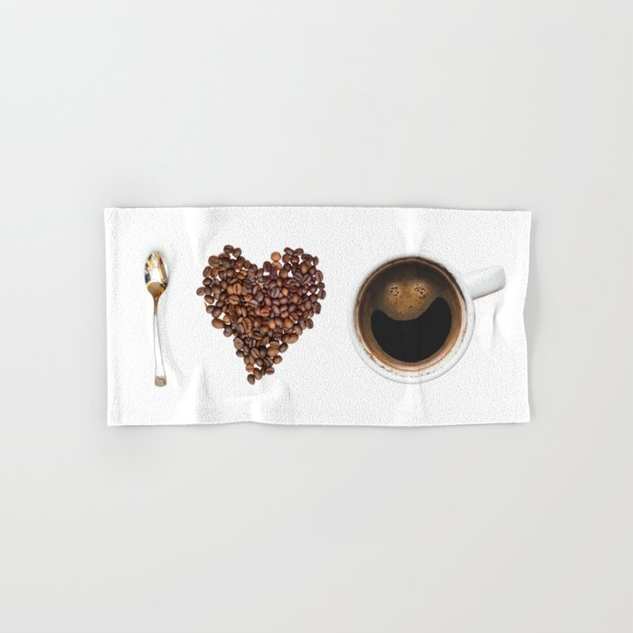I Love Coffee Hand & Bath Towel